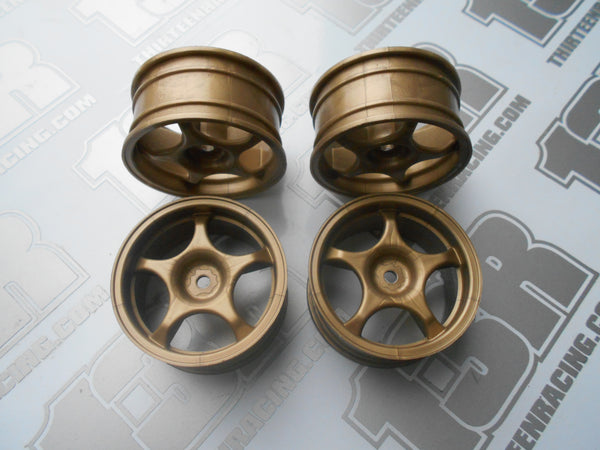 Fastrax Monza 5 Spoke 26mm Wheels - Gold (4pcs), JC005-G, Touring/Rally, 12mm Hex Fit