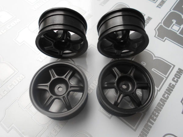 Fastrax Tifosi 6 Spoke 26mm Wheels - Black (4pcs), JC006-B. Touring/Rally, 12mm Hex Fit