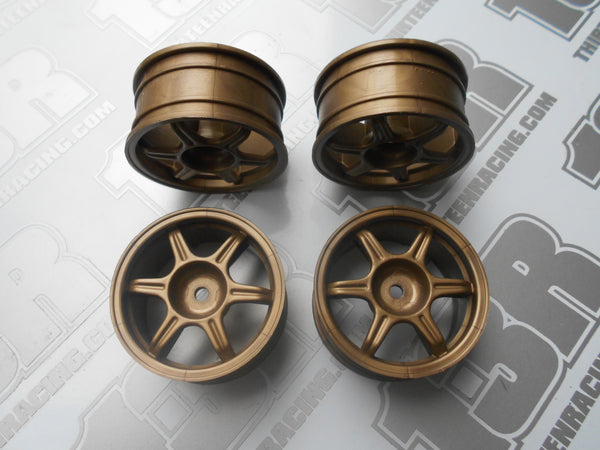 Fastrax Tifosi 6 Spoke 26mm Wheels - Gold (4pcs), JC006-G, Touring/Rally, 12mm Hex Fit