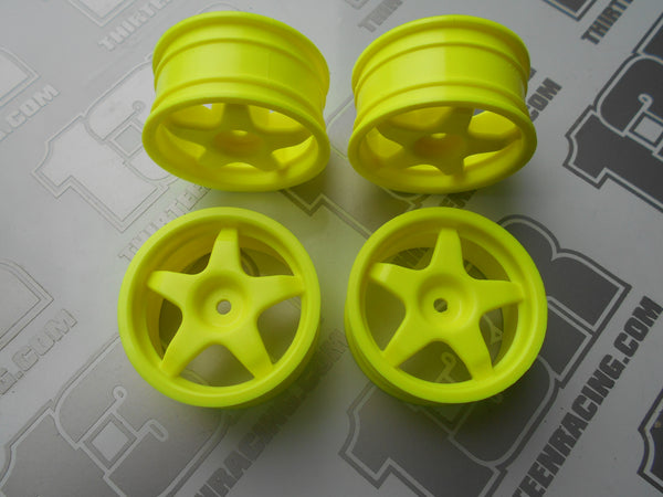 Fastrax Imola 5 Spoke 26mm Wheels - Yellow (4pcs), JC007-Y, Touring/Rally, 12mm Hex Fit