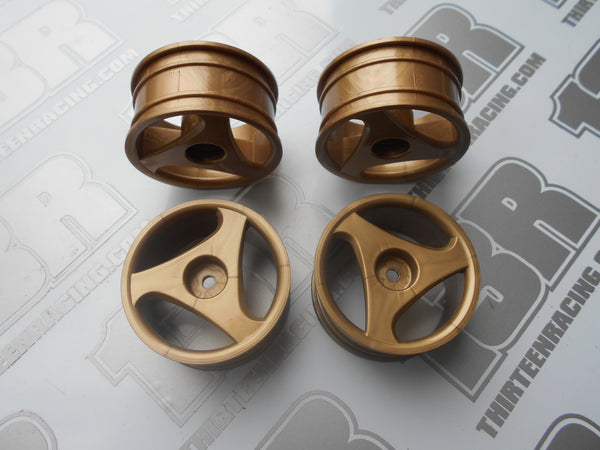 Fastrax Daytona 3 Spoke 26mm Wheels - Gold (4pcs), JC010-G, Touring/Rally, 12mm Hex Fit