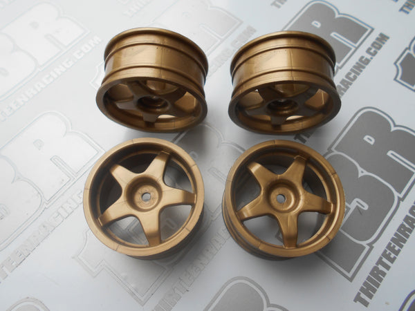 Fastrax Imola 5 Spoke 26mm Wheels - Gold (4pcs), JC007-G, Touring/Rally, 12mm Hex Fit