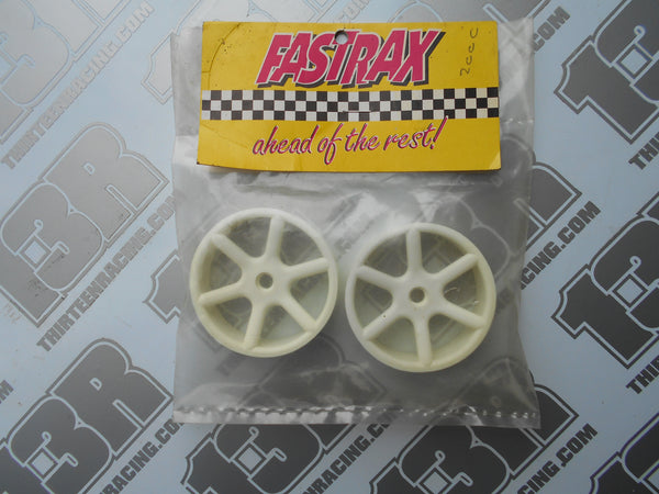 Schumacher Cougar 2000 Fastrax 6 Spoke Front Wheels - White (Pr), Fireblade