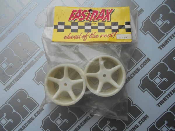 Team Losi XX Fastrax 5 Spoke Rear Wheels - White (Pr), JCXR-W, XXX, XX4