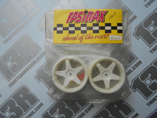 Kyosho Lazer Fastrax 5 Spoke Front Wheels - White (Pr), JCKF-W, 12mm Hex Fit