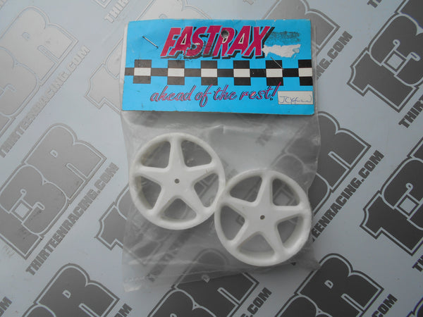 Team Losi XX Fastrax Front 5 Spoke Wheels - White (Pr), JCXF-W, XXX