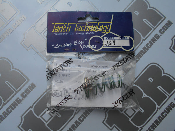Tenth Technology Predator Green Springs With Gold Helper Springs Set, # AS19, On Road & Off Road Models
