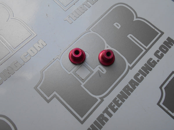 Tenth Technology Predator Red Aluminium Rear Shock Mounts (Pr) - Used, XK5, XK98, ETQ, DTMi, Supertouring