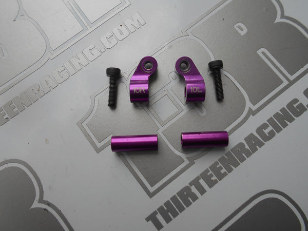 Schumacher CAT SX Purple Aluminium 10 Deg Pivot Blocks (M3) & Wishbone Spacers - Used, SX2, SX3