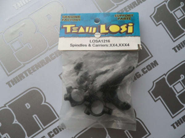 Team Losi XX4/Street Weapon/XXX4 Front Spindles & Carriers, LOSA1216