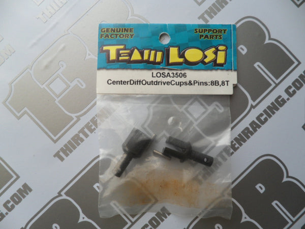 Team Losi 8B/8T Centre Differential Outdrive Cups & Pins, LOSA3506