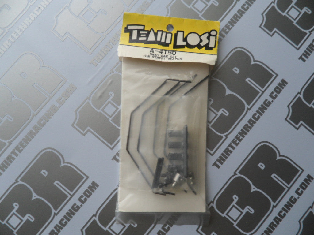 Team Losi Street Weapon Front & Rear Sway Bar Set, A-4150