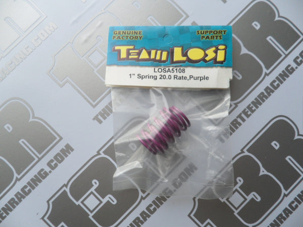 "Team Losi Street Weapon/XXXS 1"" Springs, 20.0 Rate - Purple, LOSA5108"