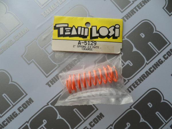 "Team Losi 2"" Springs, 2.9 Rate - Orange (Front), A-5129"