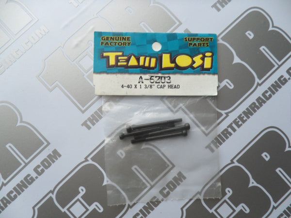 "Team Losi 4-40 x 1 3/8"" Cap Head Screws (4pcs), A-6203"