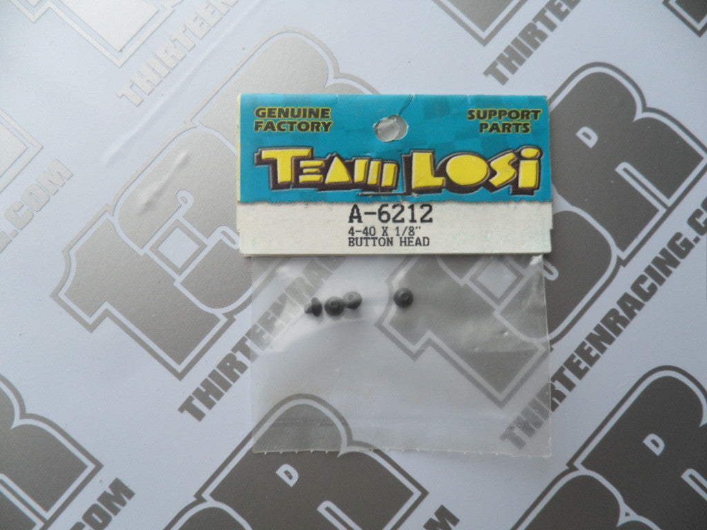 "Team Losi 4-40 x 1/8"" Button Head Screws (4pcs), A-6212"