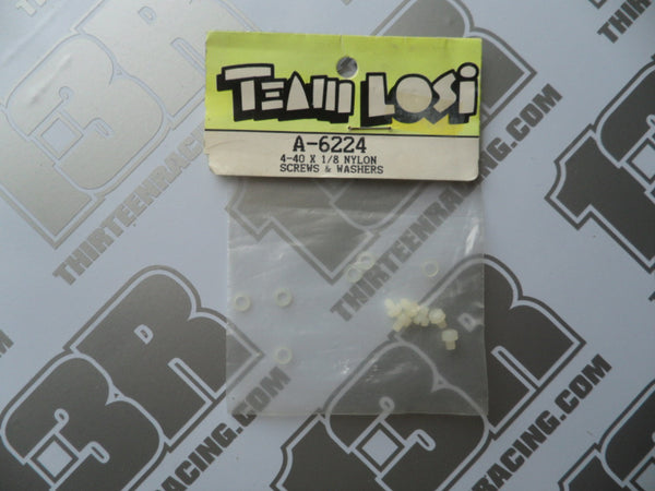 "Team Losi 4-40 x 1/8"" Nylon Screws & Washers - Hydra Drive, A-6224"