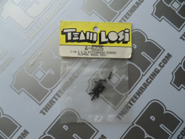 "Team Losi 2-56 x 5/16"" Button Head Screws (Slipper/wheel discs), A-6225"