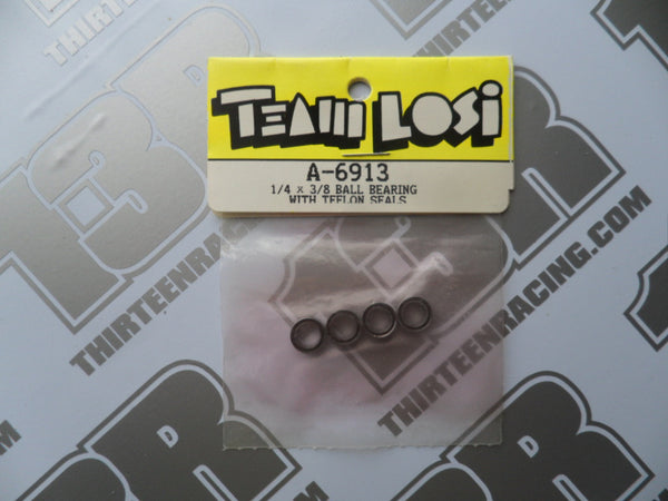 "Team Losi 1/4"" x 3/8"" Ball Bearings With Teflon Seals (4pcs), A-6913"