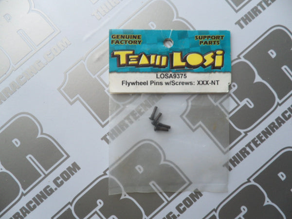Team Losi GTX/NXT/XXX NT Flywheel Pins W/Screws (4pcs), LOSA9375