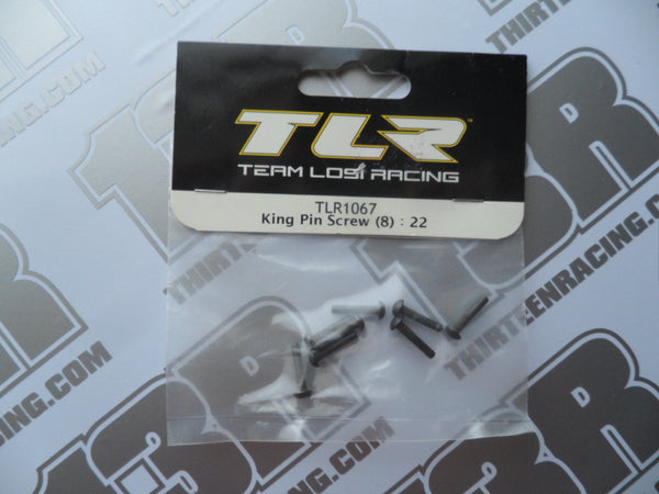 TLR 22/T/SCT Kingpin Screws (8pcs), TLR1067, 2.0
