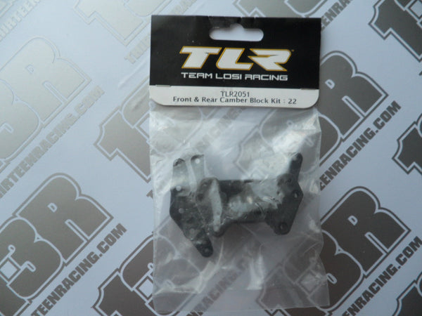 TLR 22/22T/22-SCT Front & Rear Camber Block Kit, TLR2051, 2.0