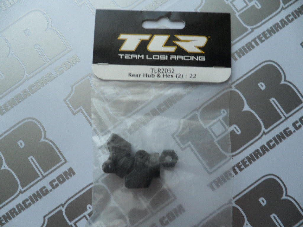 TLR 22/T/SCT Rear Hub Carriers & Hexes, TLR2052
