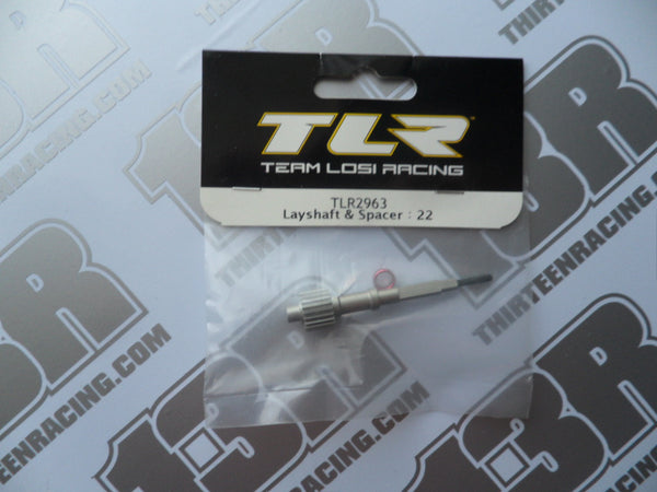 TLR 22/T/SCT Layshaft & Spacer, TLR2963, 2.0, 3.0