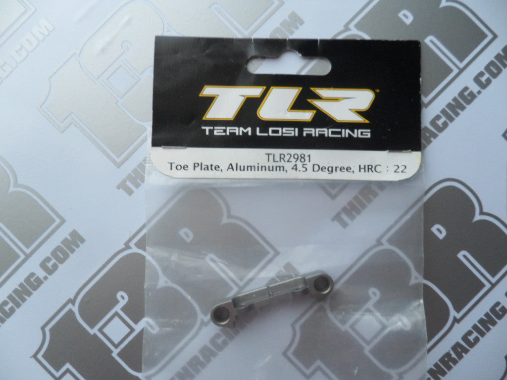 TLR 22/T/SCT Aluminium Rear Toe Plate 4.5 Degree - HRC, TLR2981, 2.0