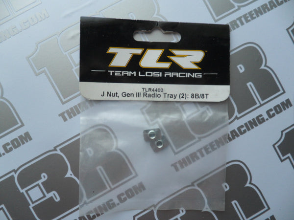 Team Losi 8B/8T TLR J Nut For Gen 3 Radio Tray (2pcs), TLR4403
