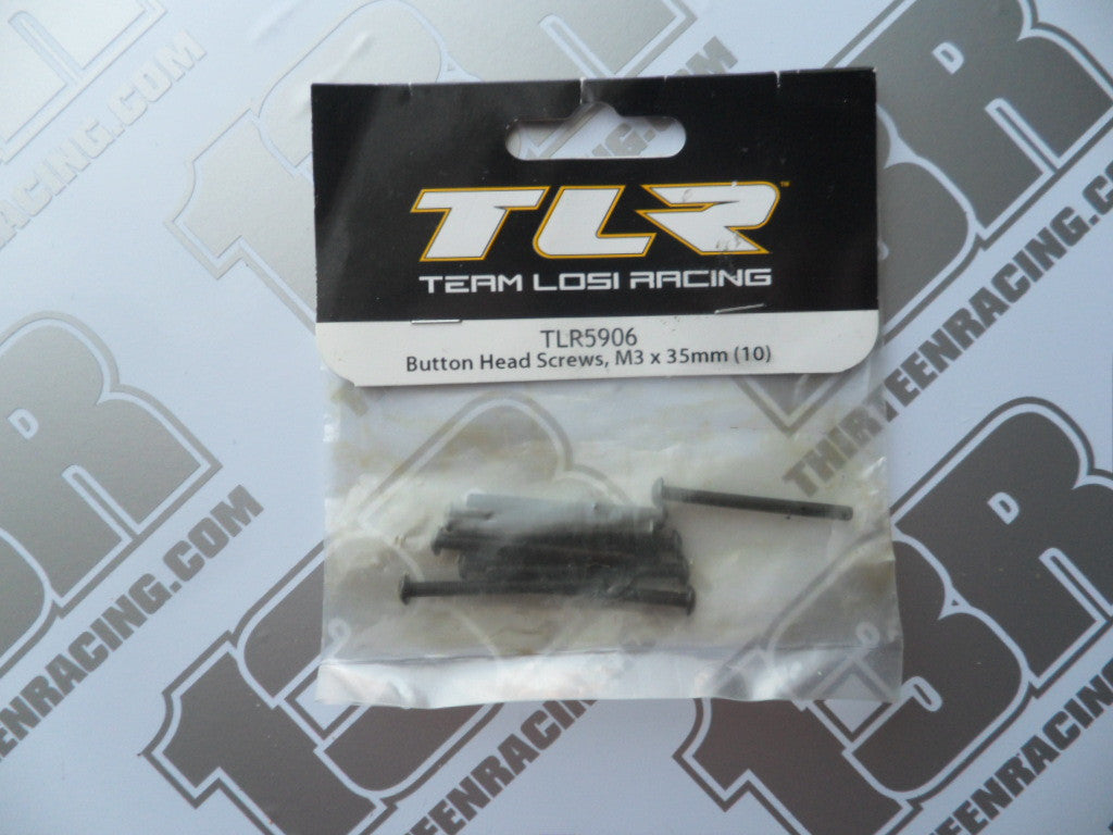 TLR 22/T/SCT Button Head Screws, M3 x 35mm (10pcs), TLR5906, 2.0