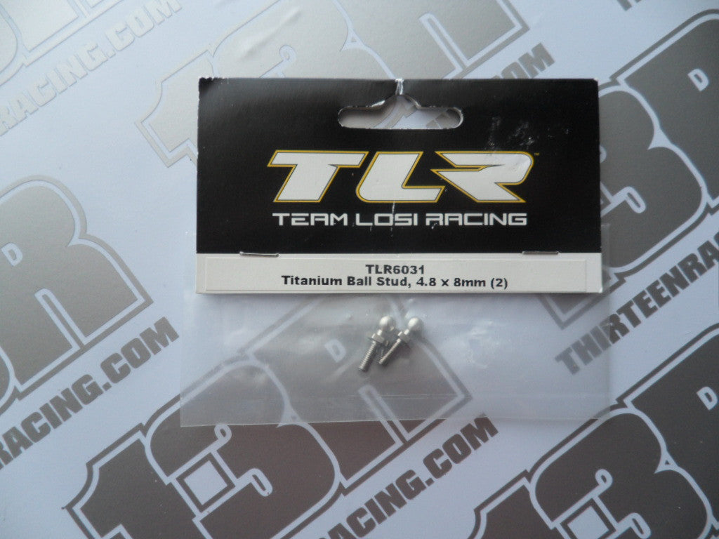 TLR 22/22T/SCT/22-4 Titanium Ball Studs, 4.8 x 8mm (2pcs), TLR6031, 2.0, 3.0