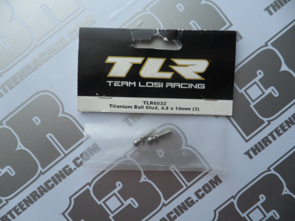 TLR 22/T/SCT/22-4 Titanium Ball Studs 4.8mm x 10mm (2pcs), TLR6032, 2.0, 3.0
