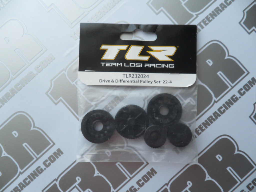 TLR 22-4 Drive & Differential Pulley Set, TLR232024