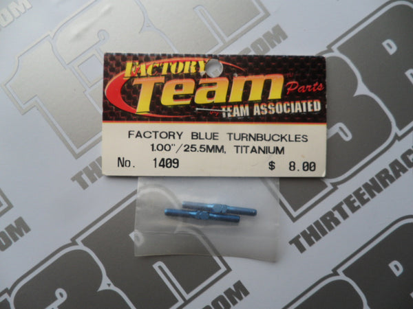 "Team Associated FT Blue Titanium Turnbuckles, 1.00""/25.5mm (2pcs), #1409"