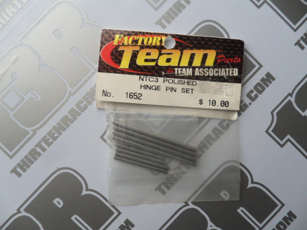 Team Associated Factory Team NTC3 Polished Hinge Pin Set, #1652