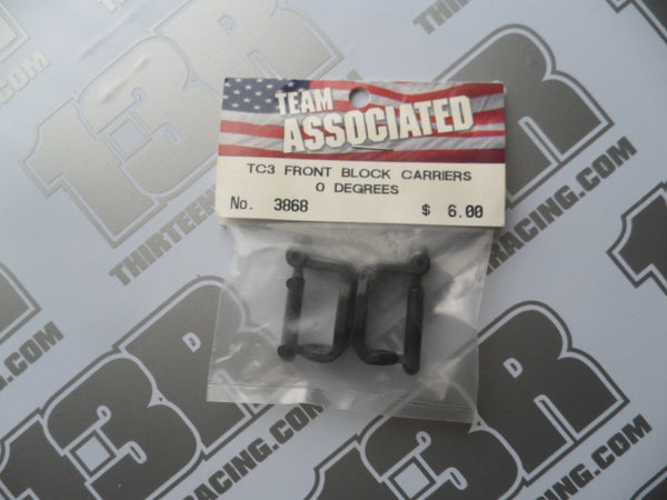 Team Associated TC3 Front Block Carriers - 0 Degree, #3868