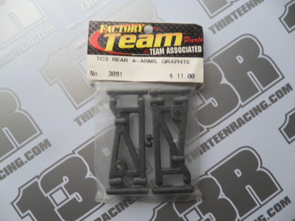 Team Associated TC3 Rear Suspension Arms - Graphite (Pr), #3891