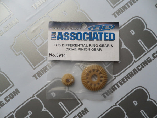 Team Associated TC3 Differential Ring Gear & Pinion Gear, #3914, TC4, B44/.1/.2