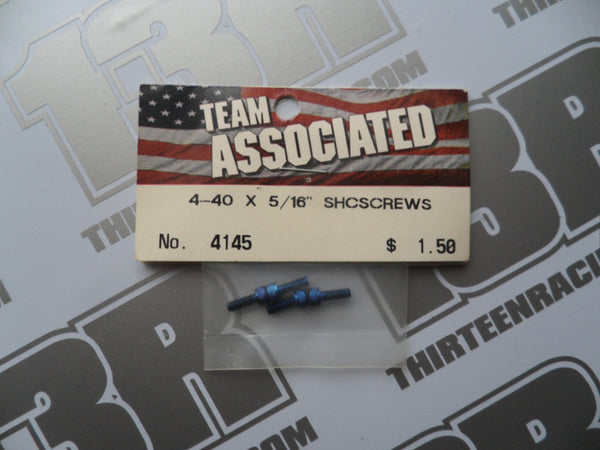 "Team Associated FT Blue Aluminium 4-40 x 5/16"" SH Screws (4pcs), #4145"