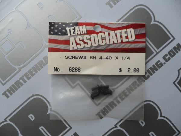 "Team Associated 4-40 x 1/4"" Button Head Screws - Steel (6pcs), #6288"