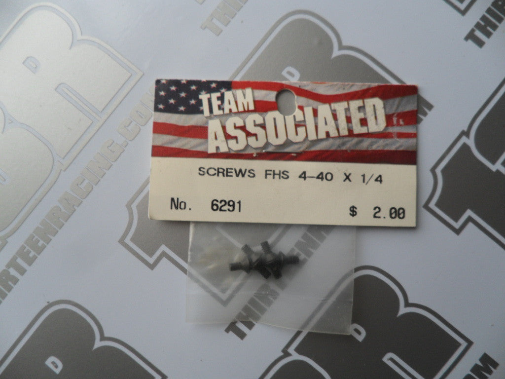 "Team Associated 4-40 x 1/4"" Flat Head Countersunk Screws - Steel (6pcs), #6291"