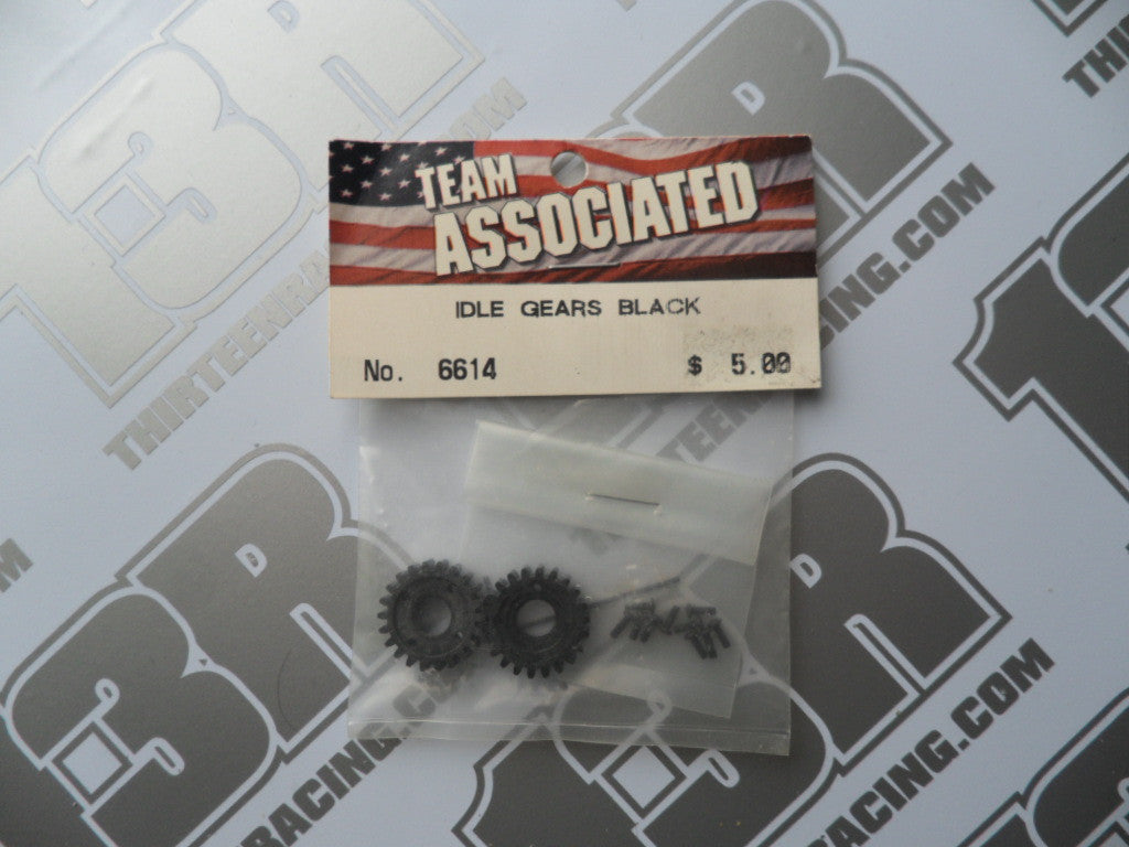 Team Associated RC10 Idler Gears - Black, #6614, Graphite - 6 Gear