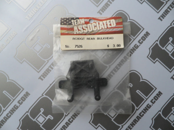 Team Associated RC10 GT Rear Bulkhead - Black, #7526