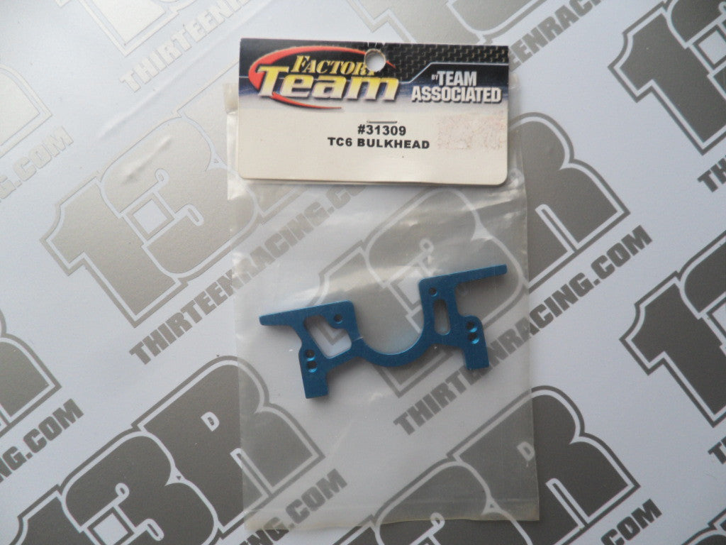 Team Associated TC6 Blue Aluminium Bulkhead, #31309