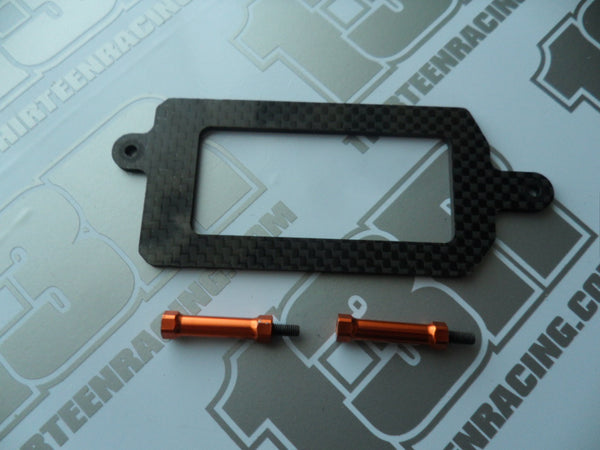 Team C TM2 Carbon Shorty LiPo Battery Strap & Mount Posts - Used