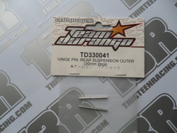 Team Durango DEX410 Rear Outer Hinge Pin, 30mm (2pcs), TD330041