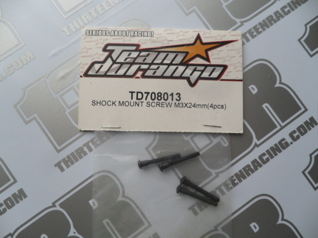 Team Durango Shock Mount Screws, M3x24mm (4pcs), TD708013, DEX210, DEX410v5, DESC, DEST