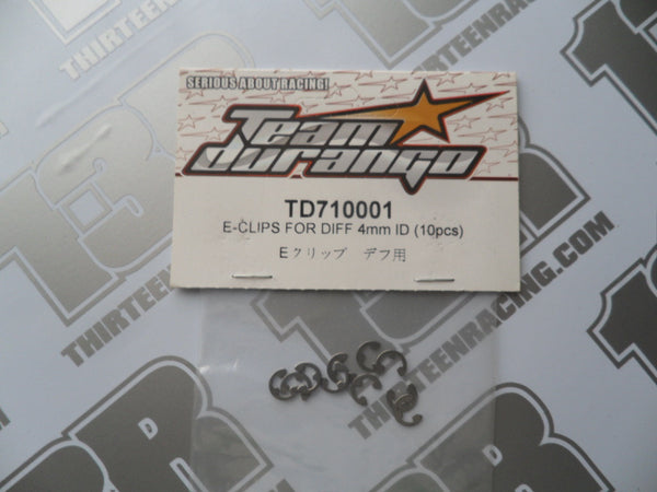 Team Durango E-Clips For Gear Diff, 4mm ID (10pcs), TD710001, DEX210, DEX410, DESC, DEST, DETC