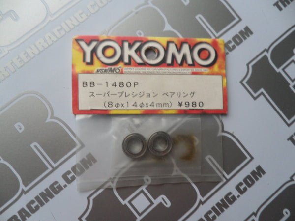 Yokomo 8 x 14 x 4mm Super Precision Ball Bearings (2pcs), BB-1480P